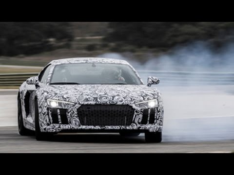 2015 Audi R8 - Autocar rides onboard as Frank Stippler laps the Ascari circuit