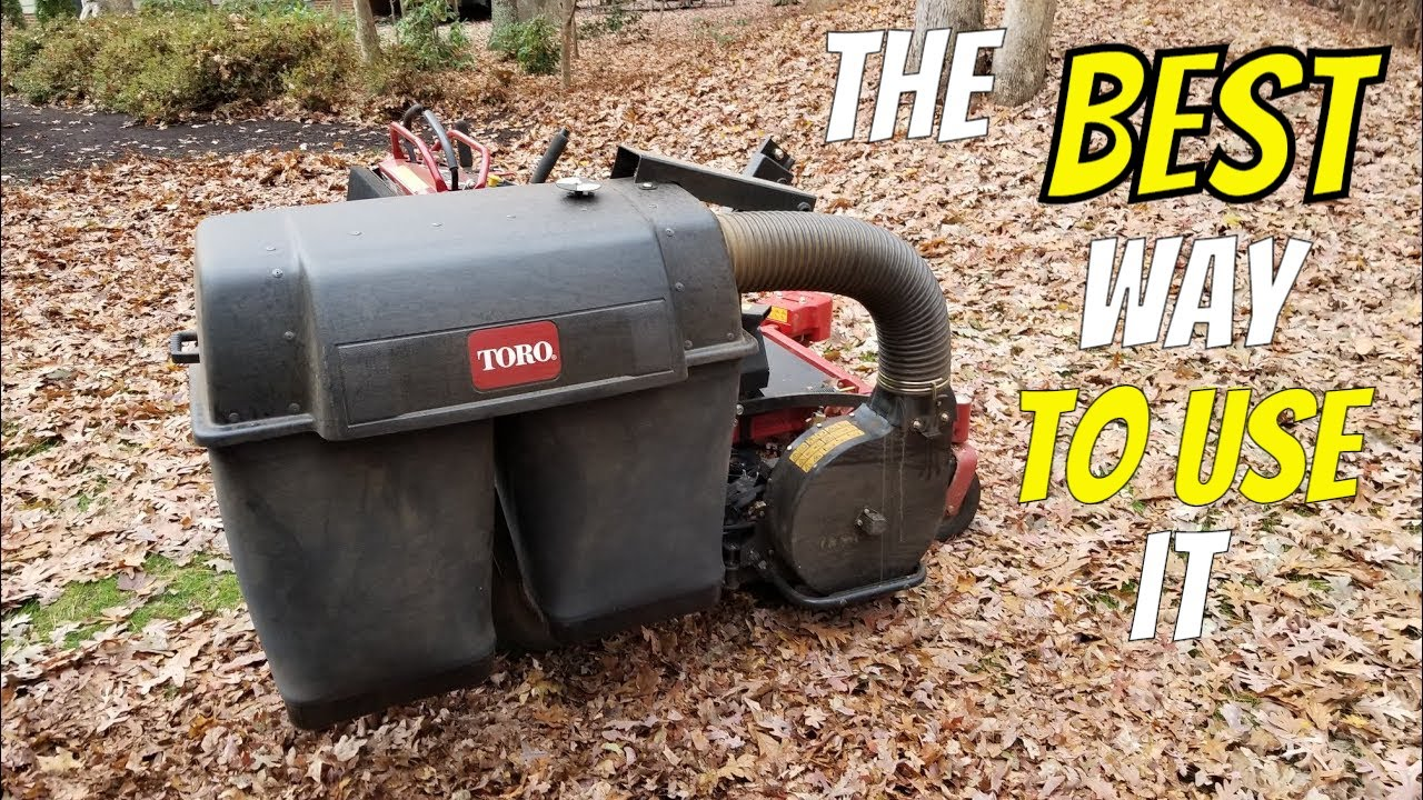 Toro Grandstand Ez Vac Twin Bagger System Youtube