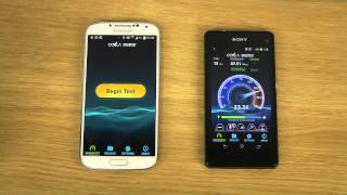 Sony Xperia Z1 Compact vs. Samsung Galaxy S4 Android 4.4 KitKat - Internet Speed Test