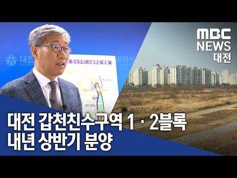 [대전MBC뉴스]갑천친수구역 1·2블록 분양 논란