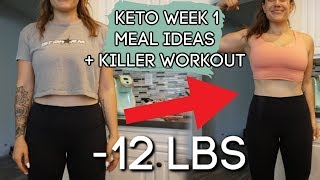 I started Keto & lost 12lbs | What I eat + Full body workout | Keto week 1
