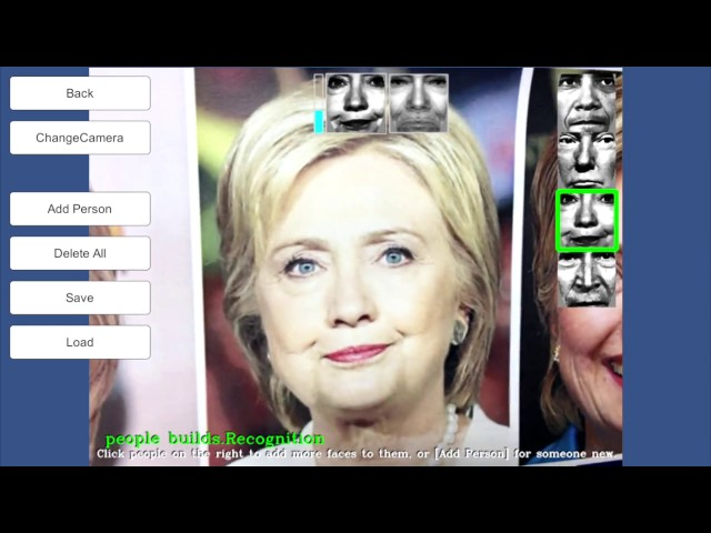 RealTime FaceRecognition Example using OpenCV for Unity