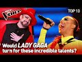 LADY GAGA's biggest HITS in The Voice | TOP 10