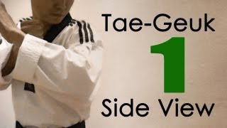 WTF Taekwondo poomsae Taegeuk 1 Jhang (Side View) 태극 1장 : taekwonwoo