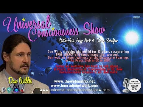Universal Consciousness Show Special Guest Dan Willis 9-28-18