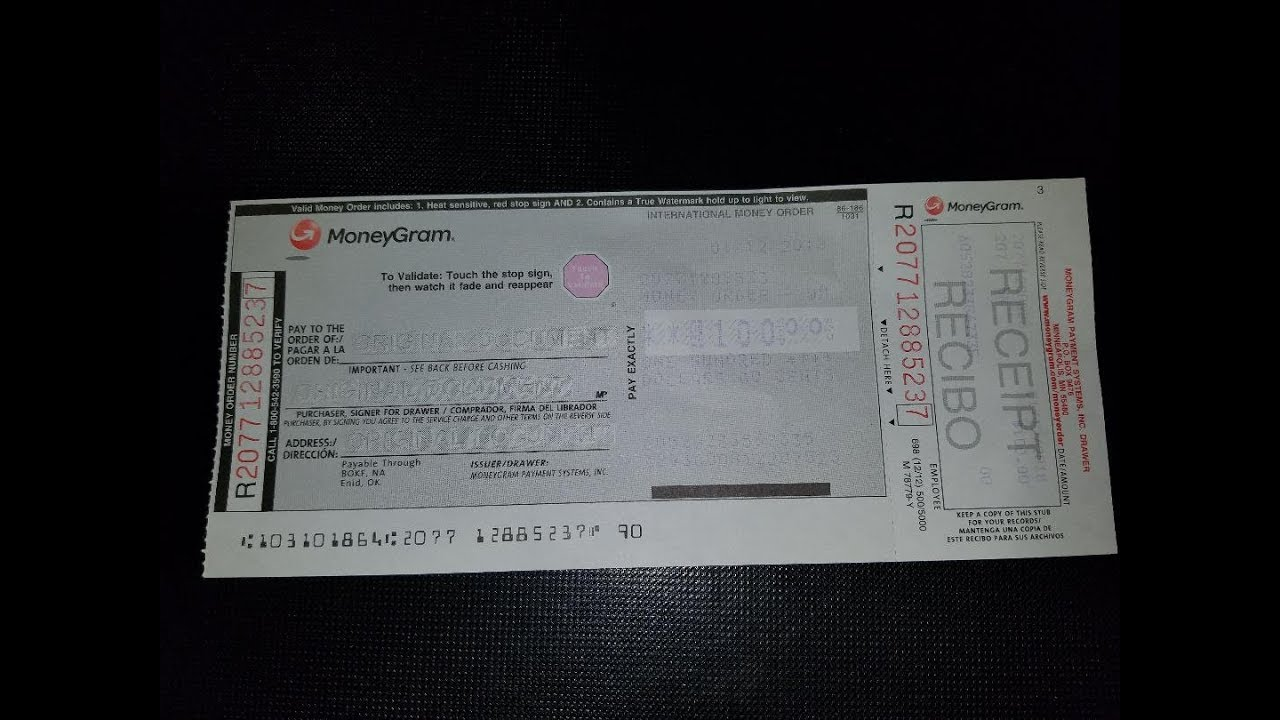 How to fill out a Walmart money order (MoneyGram) - YouTube