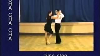 Cha-cha dance steps 01. Time step