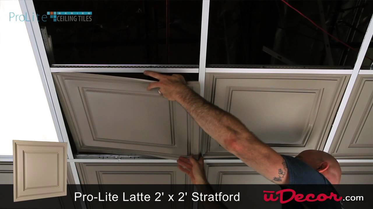 Stratford vinyl 2x2 ceiling tile latte youtube stratford vinyl 2x2 ceiling tile latte dailygadgetfo Images