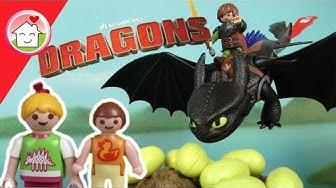 Playmobil Drachenzähmen leicht gemacht  Dragons Die Dracheneier - Familie Hauser
