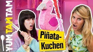 Was ist in diesem KUCHEN VERSTECKT?  // Piñata-Kuchen zum Geburtstag // #yumtamtam
