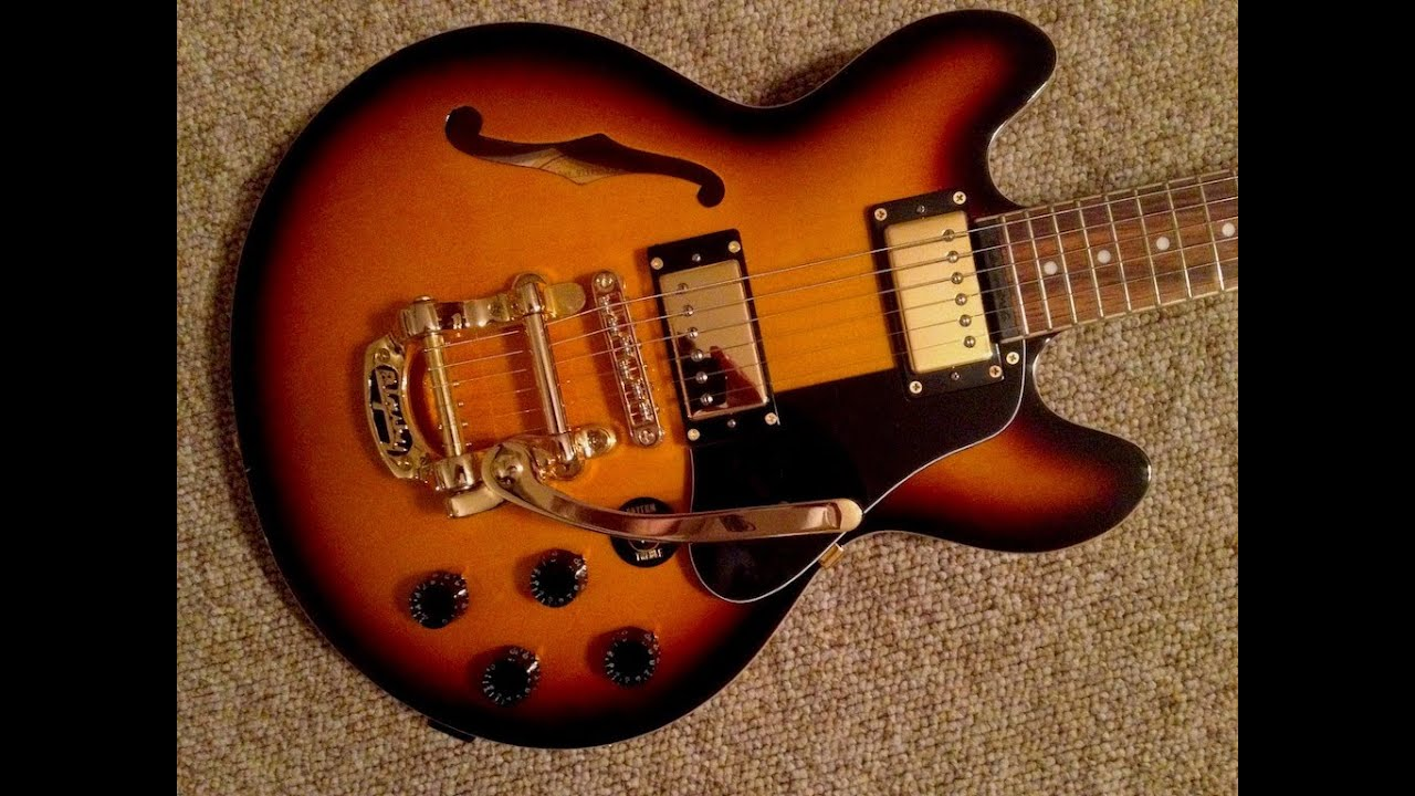 b5 bigsby tremolo on a 339 guitar and gold hardware epiphone gibson youtube. Black Bedroom Furniture Sets. Home Design Ideas