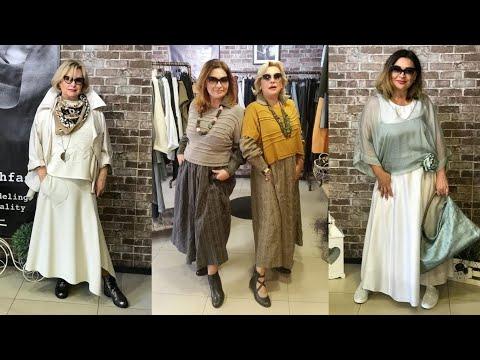 Бохо стиль 2019 для женщин 50 - 60 лет. Модная женская одежда на каждый день для дам старше 50