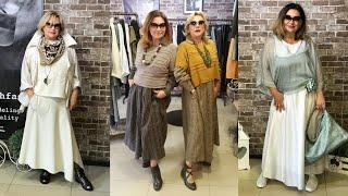 Бохо стиль для женщин 50 - 60 лет. Модная женская одежда на каждый день для дам старше 50