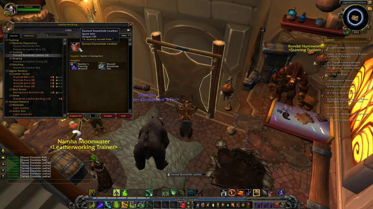 World Of Warcraft Playthings Leatherworking Legion Quest Guide Youtube