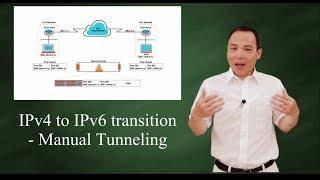 IPv4 to IPv6 transition - Manual Tunneling