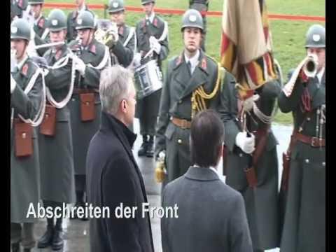 20. Jänner 2012 - Empfang des Verteidigungsminister von Schweden - 4. Gardekompanie und Gardemusik