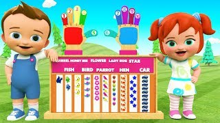 Kids Learning Videos - Learn Numbers for Children with Wooden Fingers ToySet | Kids Toys Educational
