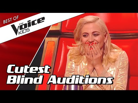 TOP 10 | The CUTEST Blind Auditions in The Voice Kids 😍❤️ (part 1)