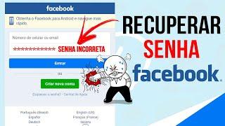Como RECUPERAR SENHA do Facebook pelo celular   Atualizado 2019 (Rápido e Fácil) #1