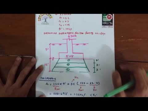 Geotechnical Engineering II: Settlement of Foundation on Clay  (Math) Concepta Bangla Tutorial