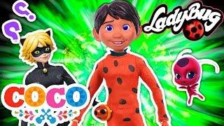 Miguel de COCO se convierte en LADYBUG 🐞 y DANTE es AKUMATIZADO -Juguetes Fantásticos