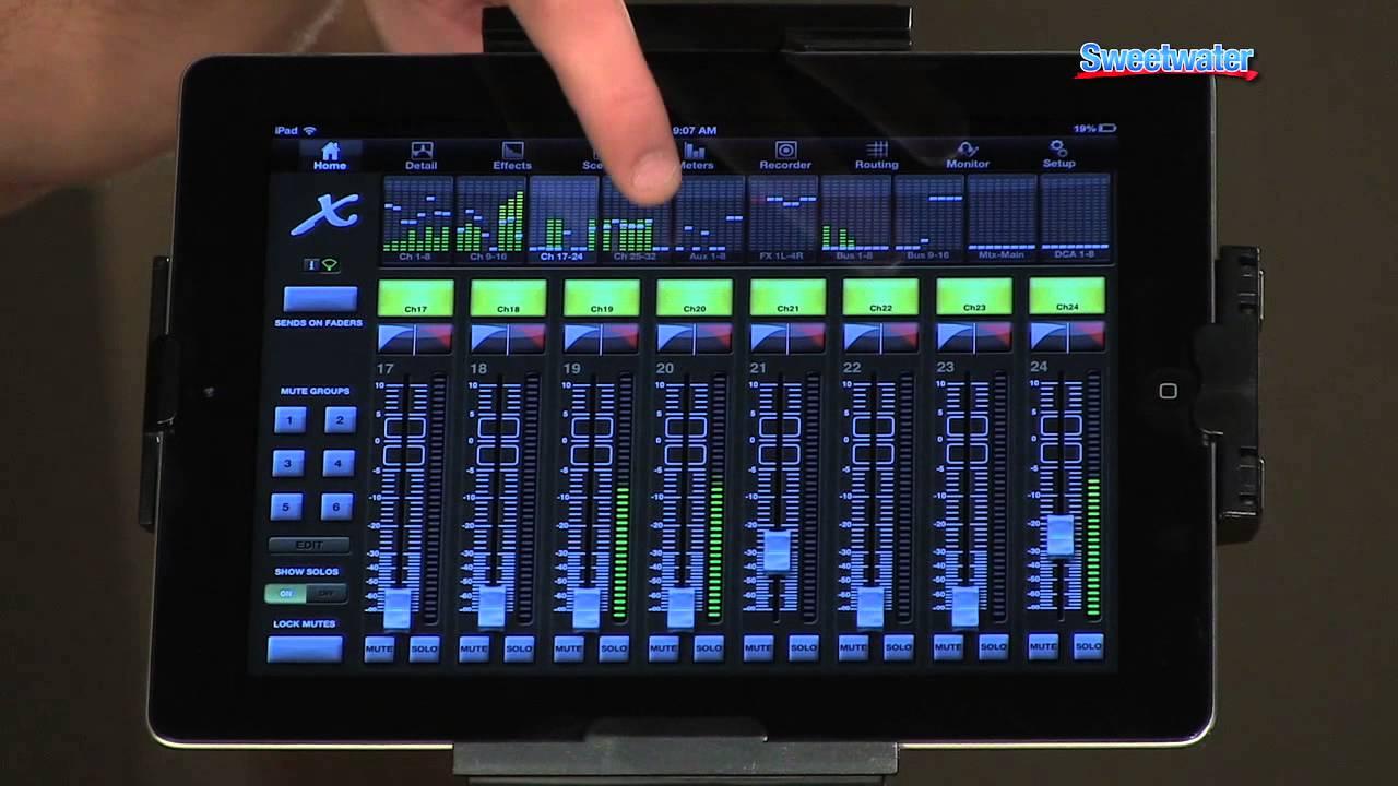 behringer x32 rack digital rack mixer demo sweetwater sound