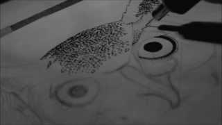 Survive - Stippling drawing [pointillism]