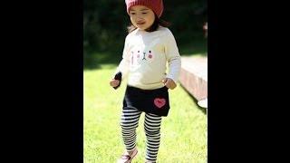 Посылка из КИТАЯ № 45 обзор распаковка лосины - юбка в полоску для девочки