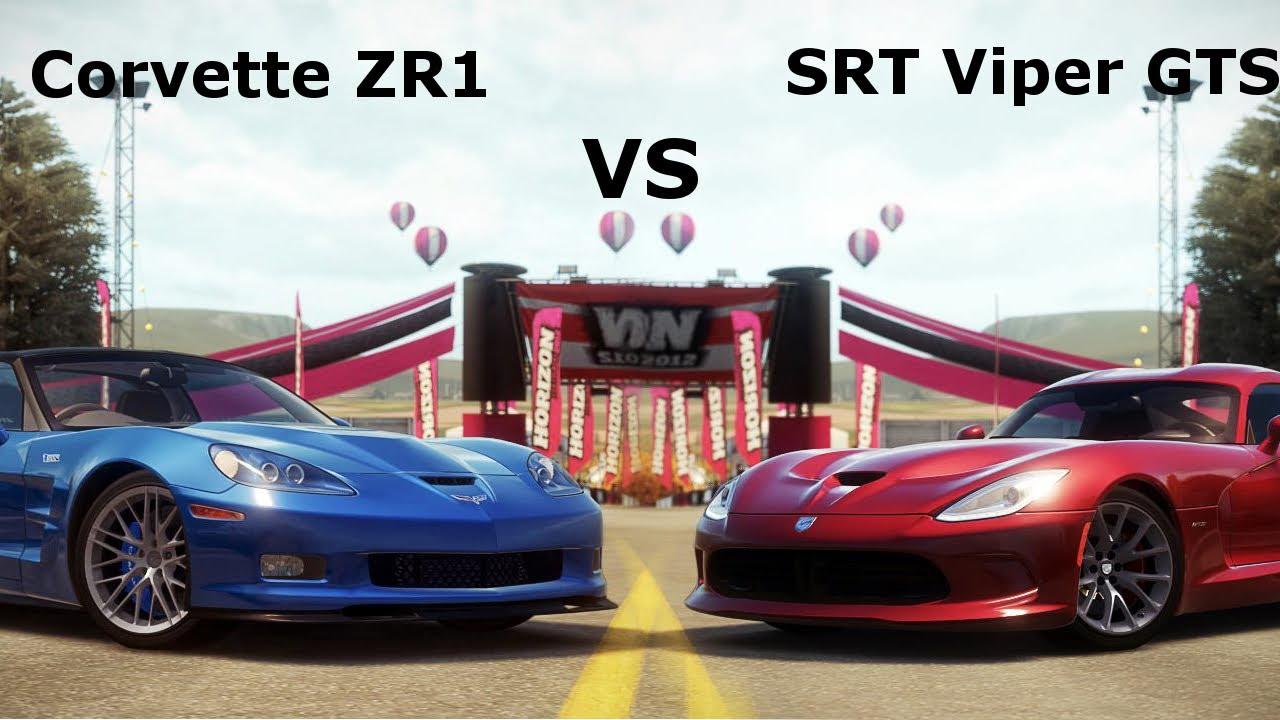 forza horizon supercar showdown corvette zr1 vs srt viper gts youtube. Black Bedroom Furniture Sets. Home Design Ideas