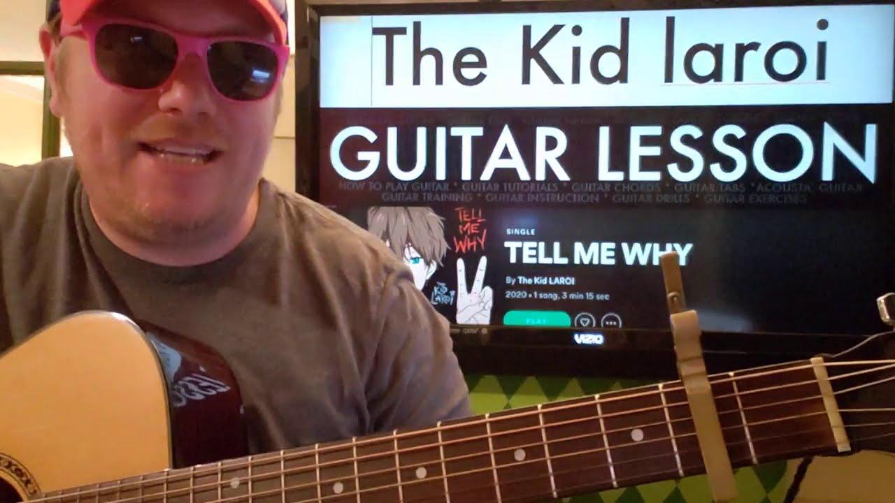 TELL ME WHY The Kid LAROI // guitar lesson beginner tutorial easy chords