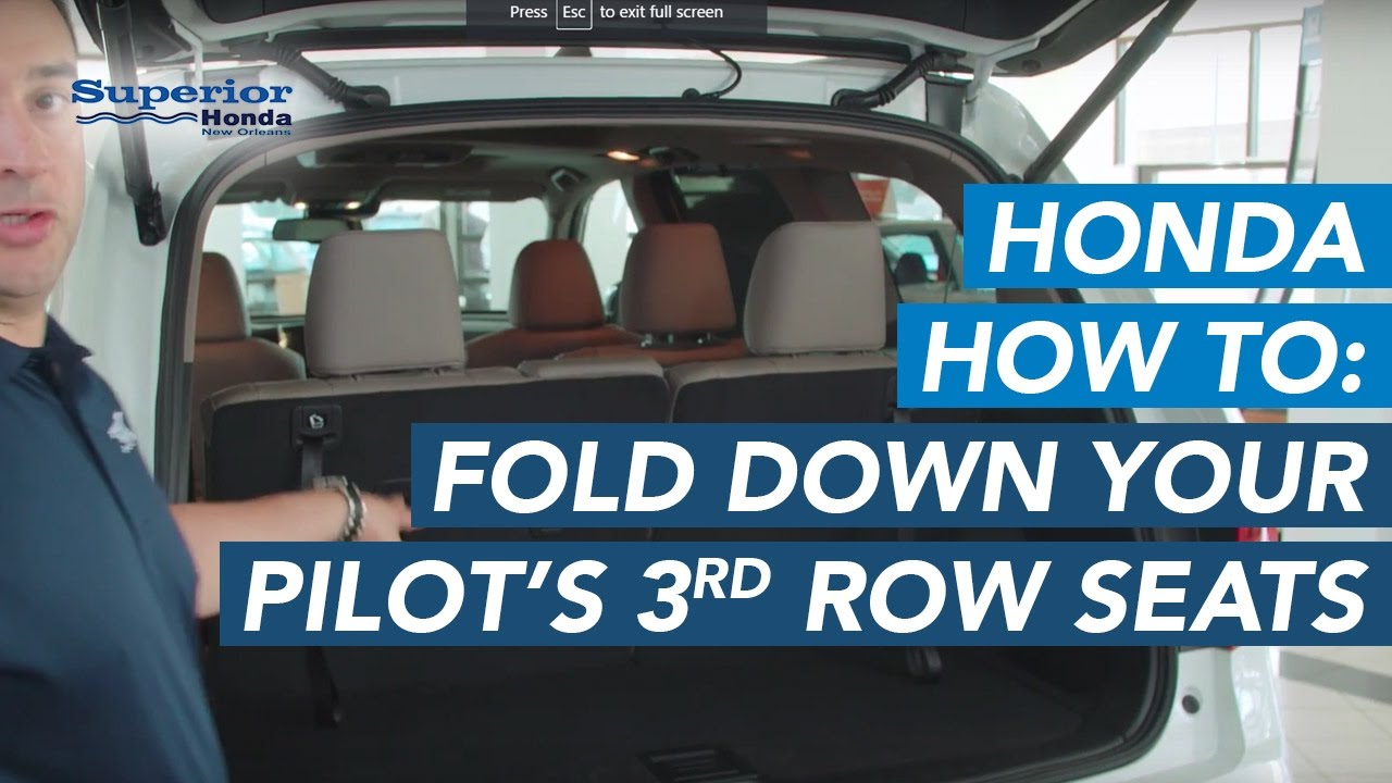 How To Fold Down Your Honda Pilotu0027s Third Row Seats
