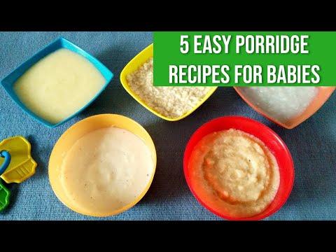 5 Easy Porridge Recipes for Babies
