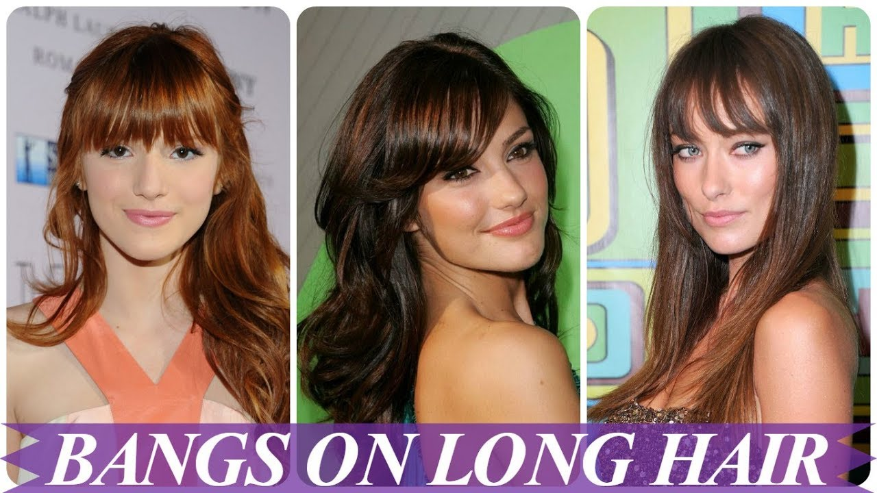 chic hairstyles for long hair with bangs 2018 for women - youtube