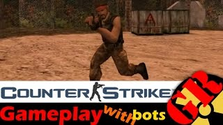 Counter-Strike v1.6 gameplay with Hard bots - Airstrip - Terrorist