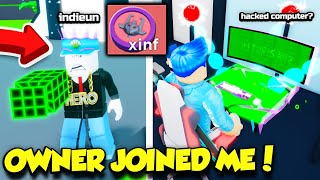 The OWNER Of YouTube Simulator JOINED ME And GAVE ME INFINITE TOKENS AND SOMETHING ELSE... (Roblox)