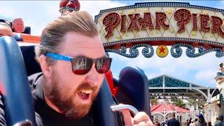 PIXAR PIER at Disney California Adventure - Incredicoaster Ride Thru / Characters & NEW Treats