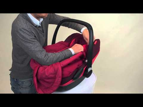 maxi cosi how to install the footmuff pebble and pebble. Black Bedroom Furniture Sets. Home Design Ideas