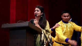 Anchor Harshita hosting for SATIA #Award show  Chief Guest- Shri Shyam Jaju   #political_event