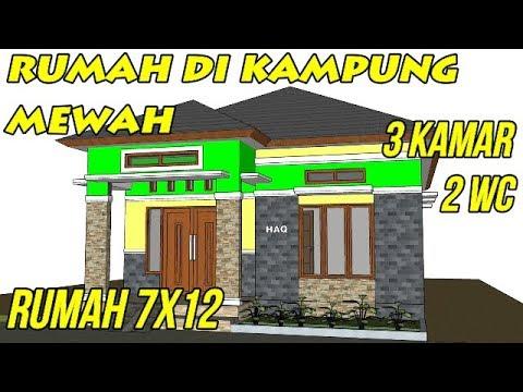 Desain Rumah Minimalis Modern 7x12 3 Kamar Tidur 2 Kamar Mandi 1
