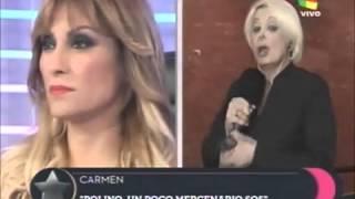 Carmen Barbieri y Marcelo Polino  escándalo en america