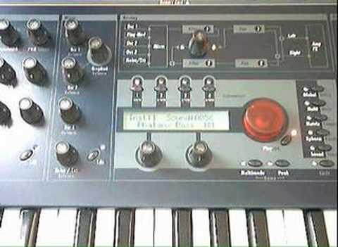 Waldorf Q synthesizer sound demo