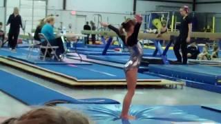 level 1 gymnastics competition katie s first meet 2010