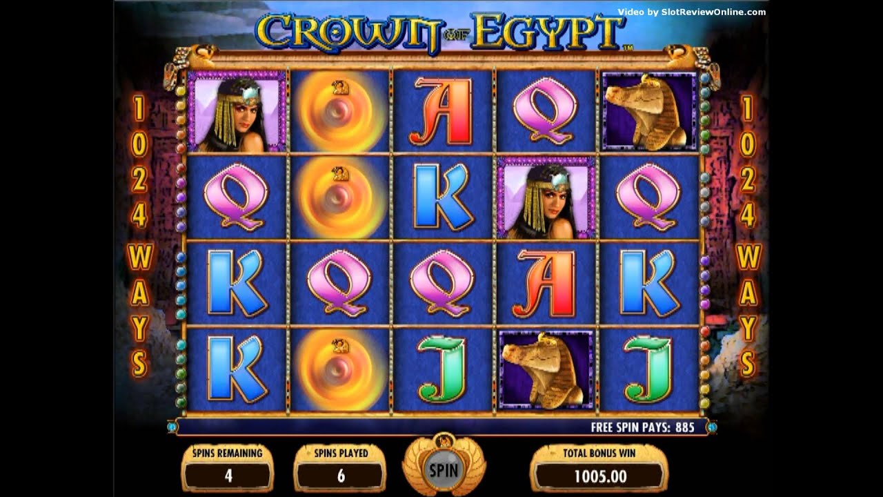 Igt Crown Of Egypt Slot Machine Online Game Play Youtube