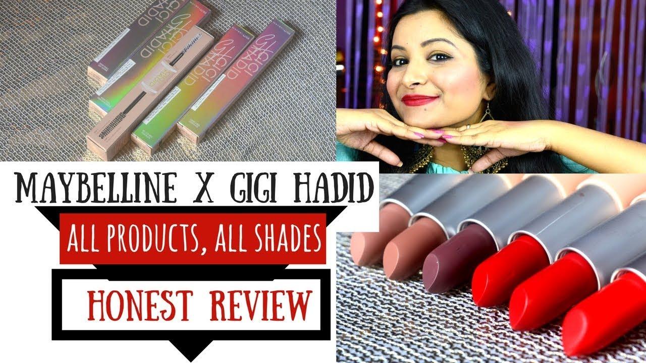 e0fd83e0354 Maybelline Gigi Hadid Lipsticks, Eyeliners, Brow Pencil, Mascara | All  Shades | Not Only Makeup Blog