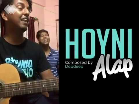 Hoyni Alap// Cover by Gaurab // Chorus: Biswajit // Debdeep / Roof Concert / Chords in Description