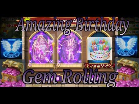 Castle Clash Amazing Birthday Gem Rolling - Fully Uncensored Terryz24