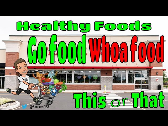✅GO Food or WHOA Food❌- This or That?: Workout and Nutrition Lesson by Christopher Sanders