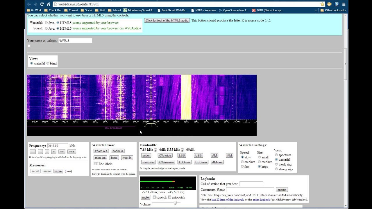 Wide-band SDR University of Twente 2013-APR-11 - YouTube