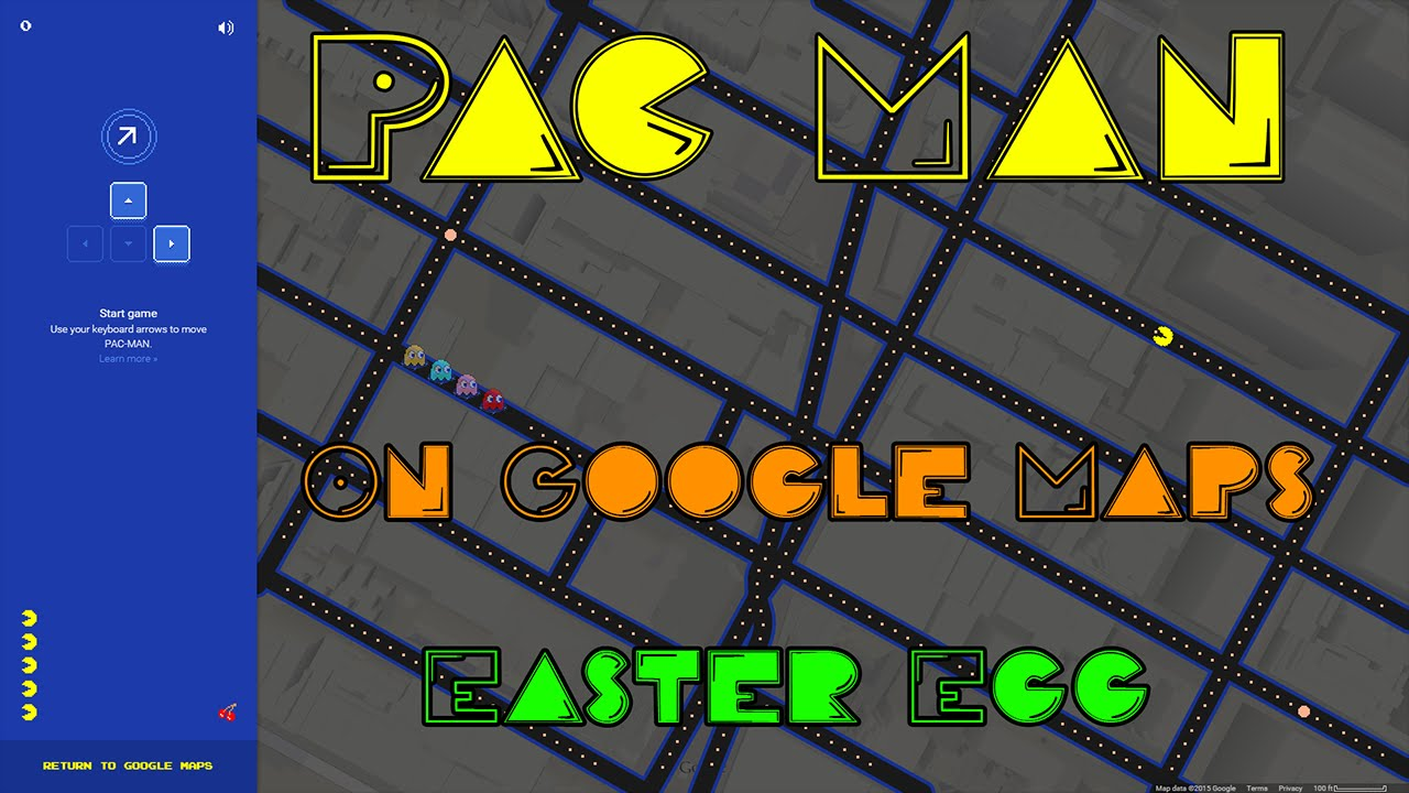 Easter Eggs Play Pac Man On Google Maps April 1 2015 Youtube