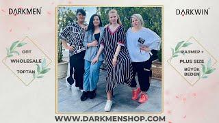 05 06 2021 Часть 3 Показ женской одежды больших размеров DARKWIN от DARKMEN Турция Стамбул Опт